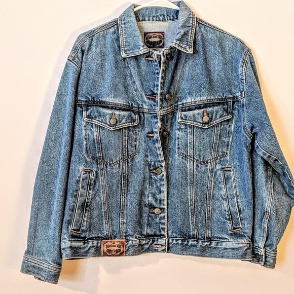 Gitano Jackets & Blazers - Vintage Gitano Blue Denim Heavy Jean Jacket MEDIUM